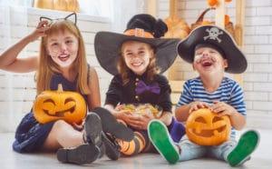Kids with food allergies celebrating Halloween